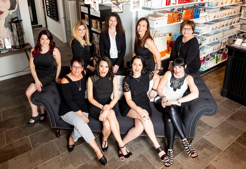 L'équipe de professionnelles du salon d'esthétique de pointe Obella